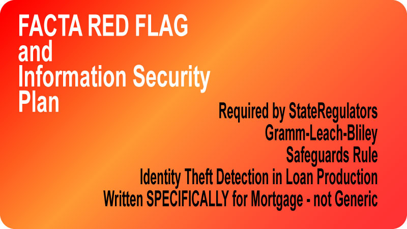 MortgageManuals FACT Red Flags is the only manual that drills down into each step of the mortgage process to identify potential red flags